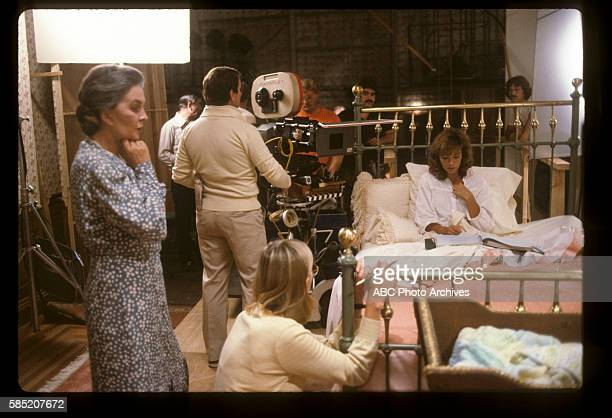 Miniseries BehindtheScenes Coverage Airdate March 27 through 30 1983 PRODUCTION SHOT OF JEAN SIMMONS AND RACHEL WARD ON SET