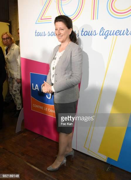 Minister Agnes Buzyn attends 'La Ligue Contre Le Cancer' Celebrates Its 100th Anniversary at Cite des Sciences on March 14 2018 in Paris France
