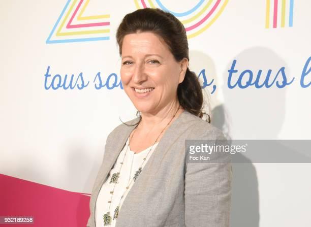 Minister Agnes Buzyn attends La Ligue Contre Le Cancer Celebrates Its 100th Anniversary at Cite des Sciences on March 14 2018 in Paris France