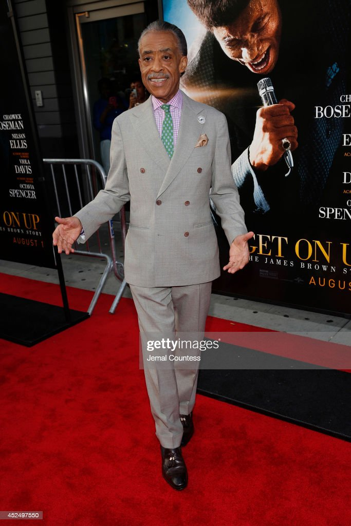 Minister Al Sharpton attends the 'Get On Up' premiere at The Apollo Theater on July 21, 2014 in New York City.