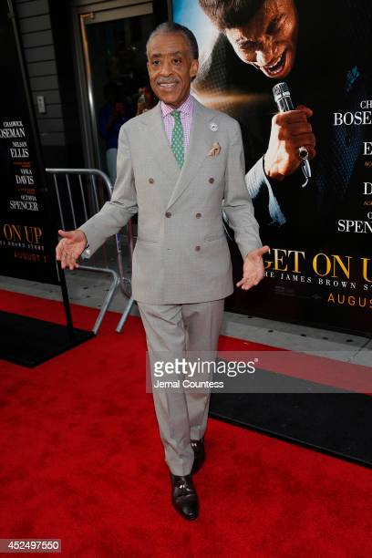 Minister Al Sharpton attends the 'Get On Up' premiere at The Apollo Theater on July 21 2014 in New York City
