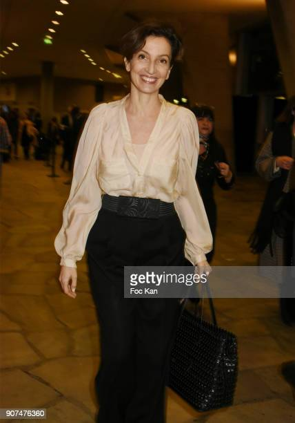 Minister Audrey Azoulay attends 'Jane' National Geographic Documentary on Jane Goodall Premiere at UNESCO on January 19 2018 in Paris France