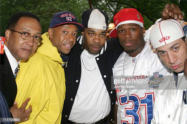 Minister Ben Chavis Muhammad Russell Simmons Busta Rhymes 50 Cent and Kid Capri