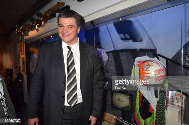 Minister David Douillet attends the 'Beton Hurlant' Histoire des Sports de Glisse Exhibition at Musee National du Sport on December 07 2011 in Paris...