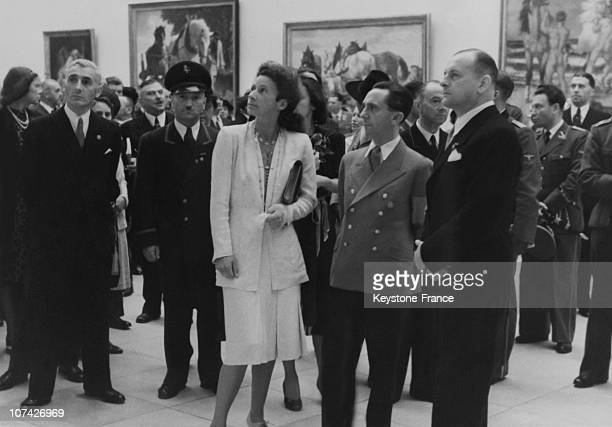 Minister Dr Goebbels Attending An Art Exhibition In Munchen-Germany On July 6Th 1942