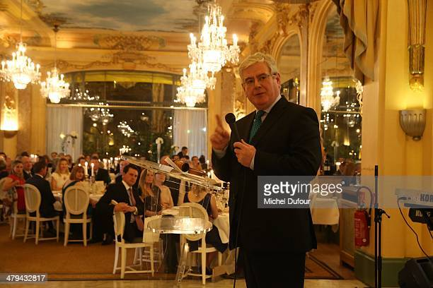 Minister Eamon Gilmore attends the Rugby Des Oies Sauvages' Benefit Dinner For 'Children's Ark Hospital Irland' At Pavillon Dauphine In Paris at...