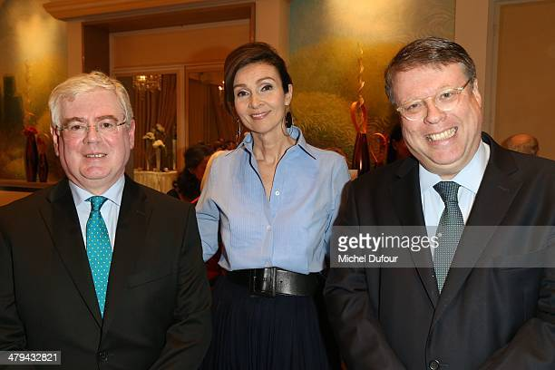 Minister Eamon Gilmore Helen Lambert and Ex Sir Rory Montgomery attend the Rugby Des Oies Sauvages' Benefit Dinner For 'Children's Ark Hospital...