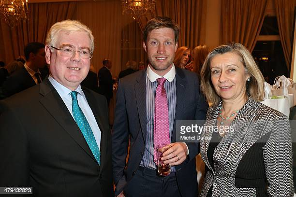 Minister Eamon Gilmore Ronan O'Gara and guest attend the Rugby Des Oies Sauvages' Benefit Dinner For 'Children's Ark Hospital Irland' At Pavillon...