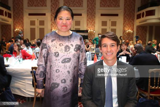 Minister Economic and Commercial Counselor of the Chinese Embassy, Yuanyuan Gao and Alexandre Arnault attend the Lunch in Honor of Alexandre Arnault,...