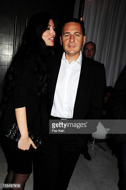 Minister Eric Besson and his wife Yasmine Besson attend the Karl Zero DJ set party at the Hotel Murano on November 18 2010 in Paris France