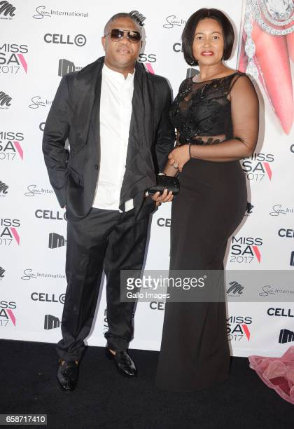 Minister Fikile Mbalula and his wife Nozuko during the crowning of Miss SA 2017 beauty pageant at Sun City Superbowl on March 26 2017 in Rustenburg...