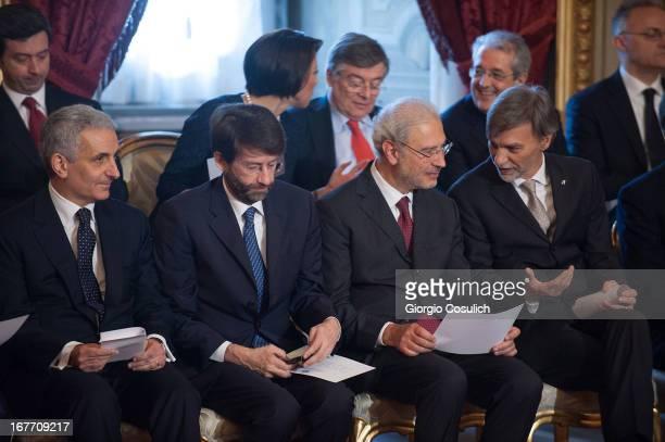 Minister for Constitutional Affairs Gaetano Quagliariello Minister for Relations with the parliament Enrico Franceschini Defense Minister Mario Mauro...