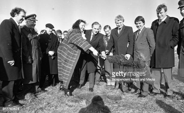 Minister for Defence Michael J Noonan and Minister for State Maire GeogheganQuinn pictured as they turned the sod for the new Dept of Defence...