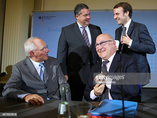 Minister for Economic Affairs and Energy and Vice Chancellor of Germany Sigmar Gabriel , Germany's Federal Minister of Finance Wolfgang Schaeuble ,...