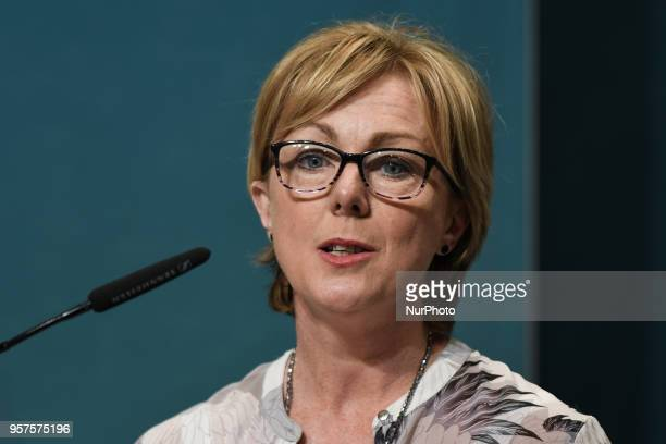 Minister for Employment Affairs and Social Protection Regina Doherty during a press conference at Government Buildings in Dublin following today's...