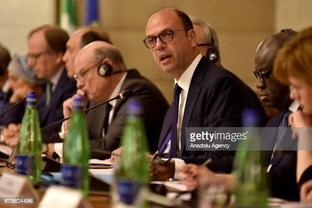 Minister for Foreign Affairs and International Cooperation Angelino Alfano speaks during the conference titled; 'Sixty years and beyond' in Rome,...