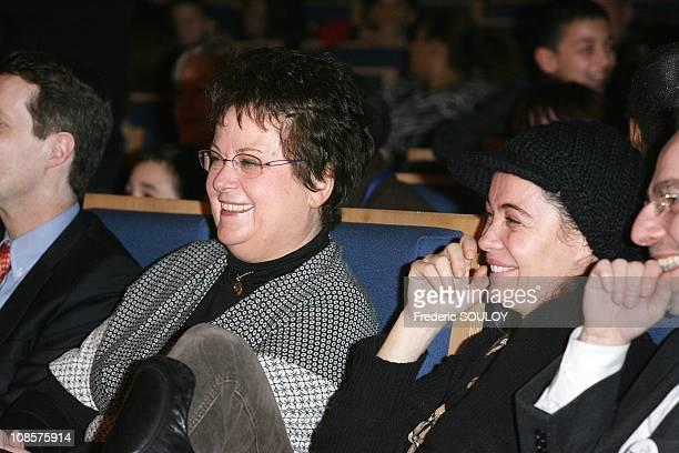 Minister for Housing and Emmanuelle Beart in Paris on December 21 2008