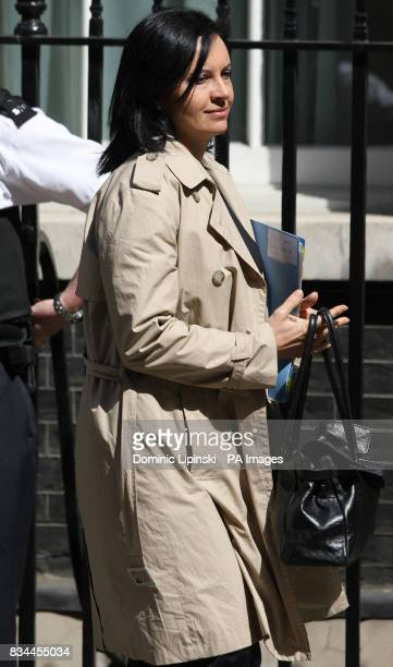 Minister for Housing Caroline Flint leaving 10 Downing Street in London following a cabinet meeting