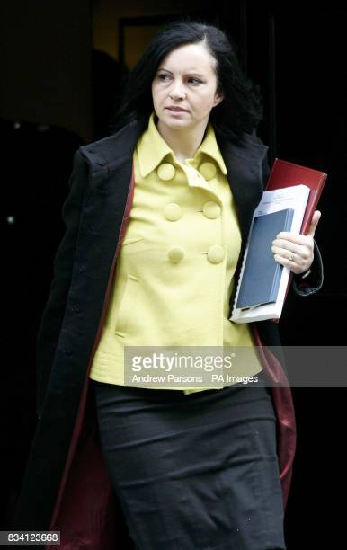 Minister for Housing Caroline Flint MP leaves 10 Downing Street 10 Downing Street after the weekly cabinet meeting