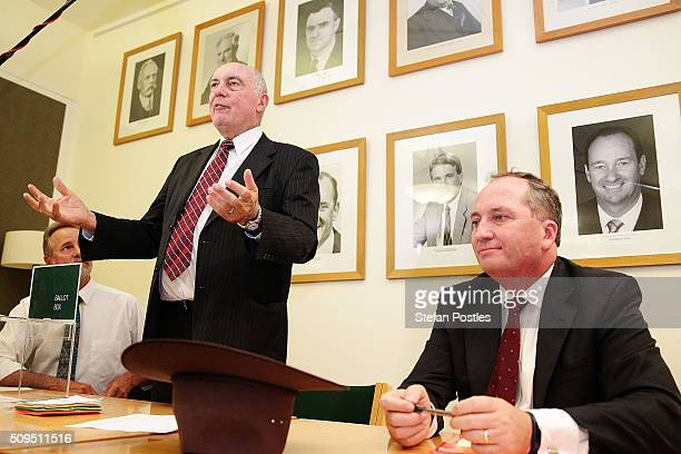 Minister for Indigenous Affairs Nigel Scullion, Deputy Prime Minister Warren Truss and Minister for Agriculture and Water Resources Barnaby Joyce...