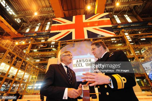 Minister for International Security Strategy Gerald Howarth and Rear Admiral Simon Lister the Ministry of Defence's director general of submarines at...