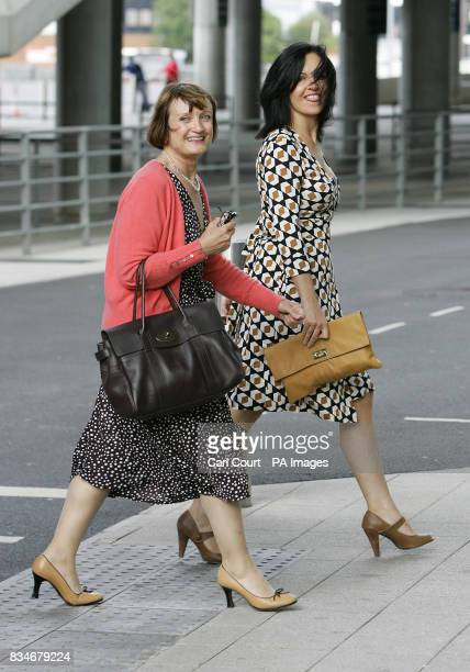 Minister for London and the Olympics Tessa Jowell and Housing Minister Caroline Flint arrive at a sports celebration dinner at Wembley Stadium