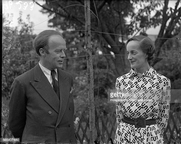Minister for Posts Telegraphs Erskine Childers and his Fiancée Miss Rita Dudley