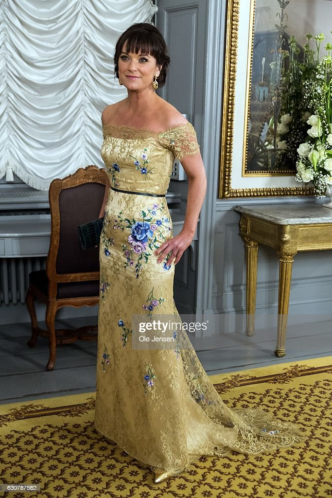 Minister for Public Innovation Sophie Lohde arrives to Queen Margrethe of Denmark's New Year's reception at Amalienborg on January 1, 2017 in Copenhagen, Denmark.