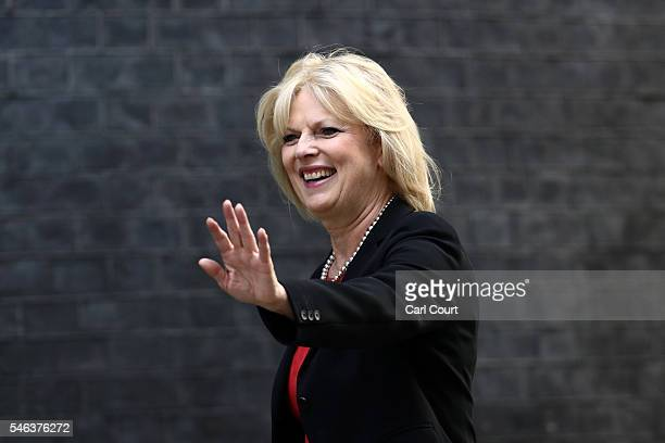 Minister for Small Business Anna Soubry arrives to attend a Cabinet meeting at Downing Street on July 12 2016 in London England David Cameron will...