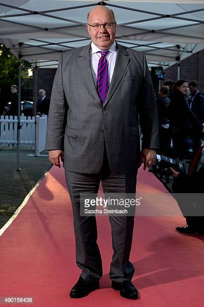 Minister for special tasks Peter Altmaier arrives for the 'Steiger Award 2015' at colliery Hansemann on September 26 2015 in Dortmund Germany