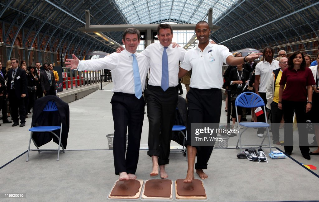 Lord Coe And Eurostar Welcome Olympic Fans From Across Europe To St Pancras To Mark 'One Year To Go'
