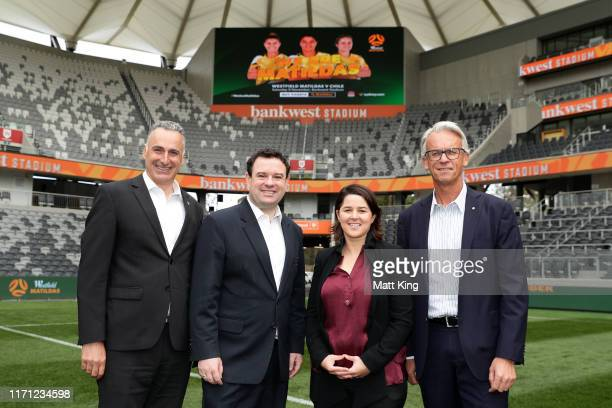Minister for Sport John Sidoti, NSW Minister for Jobs, Investment, Tourism and Western Sydney Stuart Ayres, FFA Interim Head of Community, Football...
