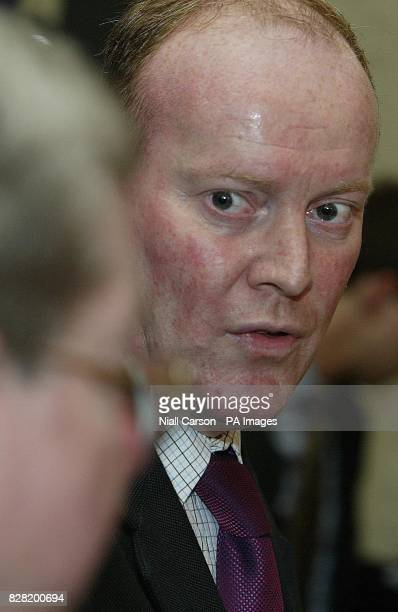 Minister for State Development Cooperation and Human Rights Conor Lenihan speaks to Robert Cumbers father of Simon Cumbers an irish camera man shot...
