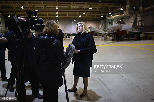 Minister for the Armed Forces Penny Mordaunt visits RAF Lossiemouth on November 24 2015 LossiemouthScotland The Minister was visiting the RAF base...