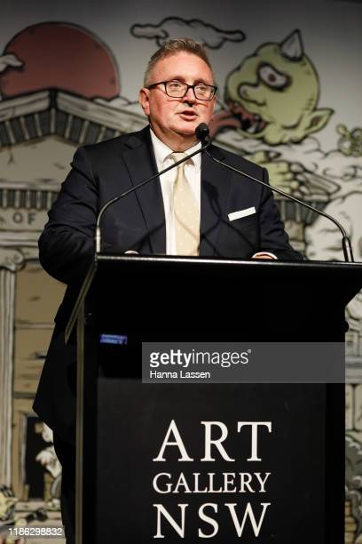 Minister for the Arts Don Harwin attends the Ben Quilty Exhibition opening at the Art Gallery Of NSW on November 08 2019 in Sydney Australia