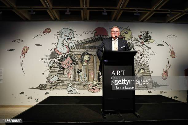 Minister for the Arts Don Harwin attends the Ben Quilty Exhibition opening at the Art Gallery Of NSW on November 08, 2019 in Sydney, Australia.