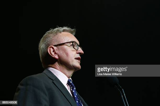 Minister for the Arts Don Harwin speaks on stage during the 7th AACTA Awards Presented by Foxtel | Industry Luncheon at The Star on December 4 2017...