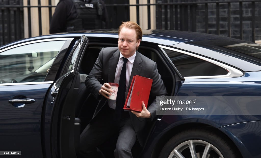 Minister for the Cabinet Office Ben Gummer arriving at 10 Downing Street, London for the weekly cabinet meeting.