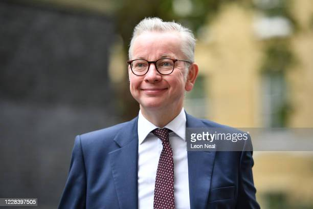 Minister for the Cabinet Office, Chancellor of the Duchy of Lancaster, Michael Gove, arrives at Downing Street on September 8, 2020 in London,...