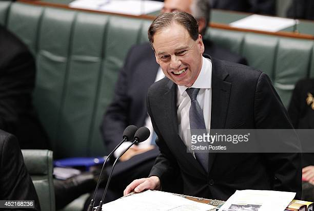 MInister for the Environment Greg Hunt during Question Time at Parliament House on July 15 2014 in Canberra Australia A vote on the Government's...