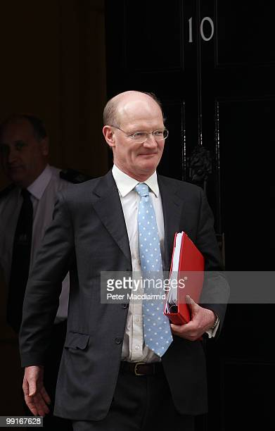 Minister for Universities and Science David Willetts leaves Number 10 Downing Street after attending his first full Cabinet meeting followed by...