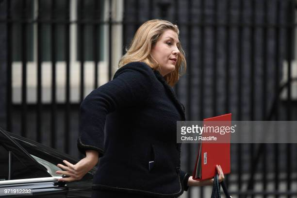 Minister for Women and Equalities Penny Mordaunt arrives for a cabinet meeting at 10 Downing Street on June 12 2018 in London England
