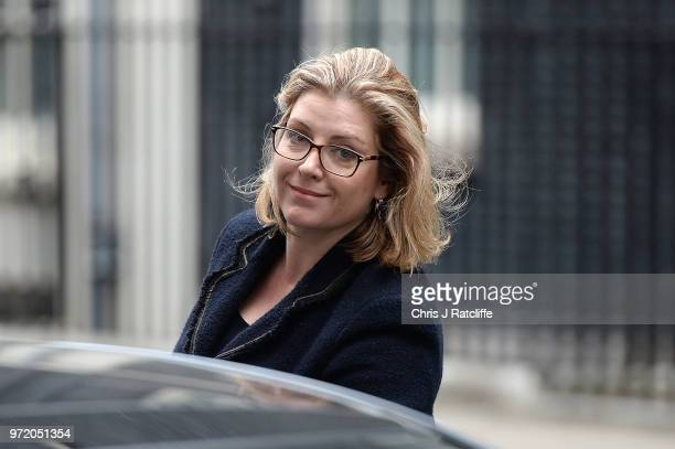 Minister for Women and Equalities Penny Mordaunt leaves following a cabinet meeting at 10 Downing Street on June 12 2018 in London England