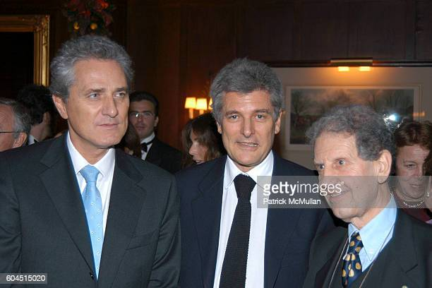 Minister Francesco Rutelli Alain Elkann and Salvatore Settis attend 2006 Foundation For Italian Arts Culture Excellency Awards at The Racquet Tennis...