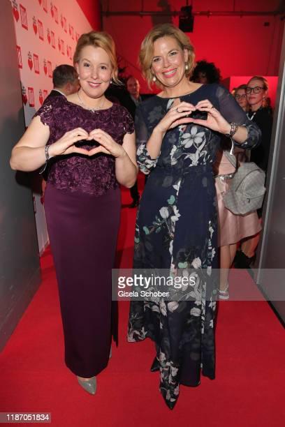Minister Franziska Giffey and minister Julia Kloeckner during the Ein Herz Fuer Kinder Gala at Studio Berlin Adlershof on December 7 2019 in Berlin...