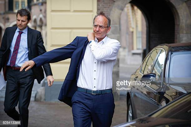 Minister Henk Kamp of Economic Affairs is seen arriving at the weekly ministers council in The Hague on Friday May 1st