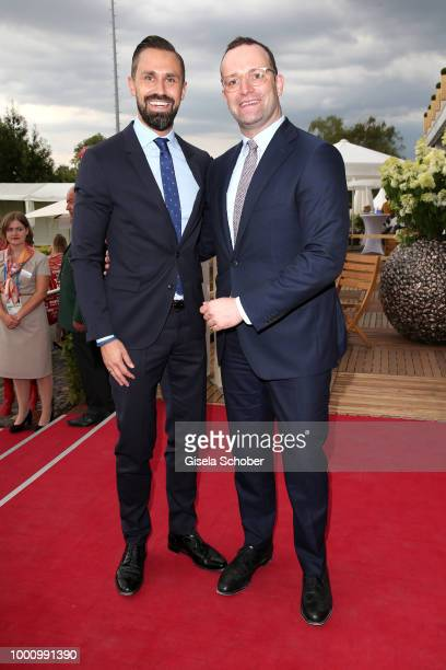 Minister Jens Spahn and his husband Daniel Funke during the media night of the CHIO 2018 on July 17 2018 in Aachen Germany