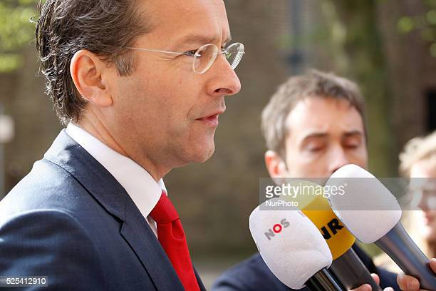 Minister Jeroen Dijsselbloem of Finance is seen arriving at the weekly ministers council in The Hague on Friday May 1st