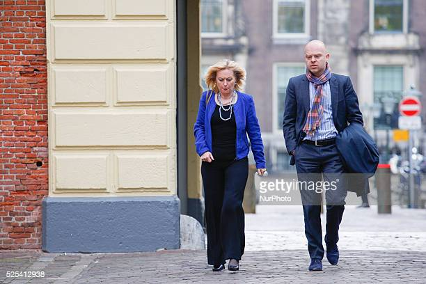 Minister Jet Bussemaker of Education is seen arriving at the weekly ministers council in The Hague on Friday May 1st