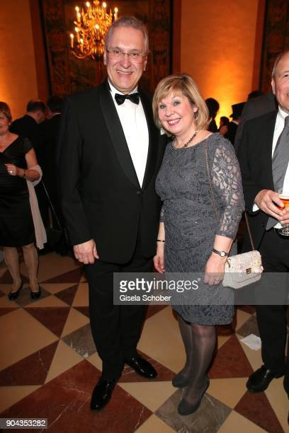 Minister Joachim Herrmann and his wife Gerswid Herrmann during the new year reception of the Bavarian state government at Residenz on January 12 2018...